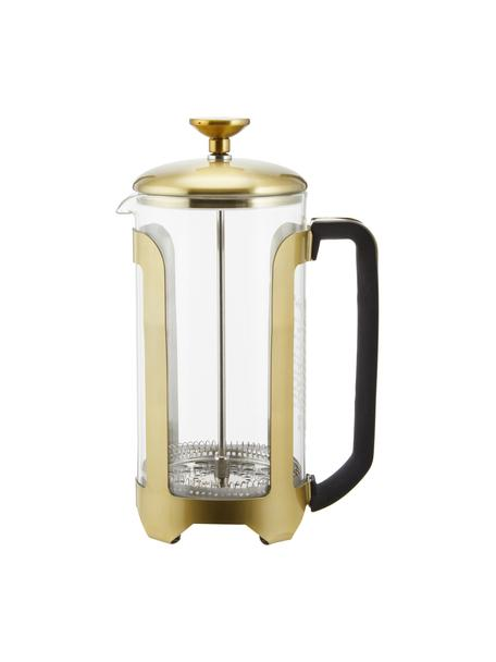 Kaffeezubereiter Le'Xpress in Gold/Transparent, Borosilikatglas, Metall, beschichtet, Transparent, Messingfarben, 1 l