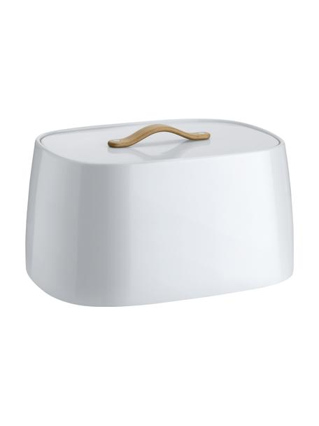 Panera de diseño Emma, Asa: madera de haya, Blanco, An 33 x Al 17cm