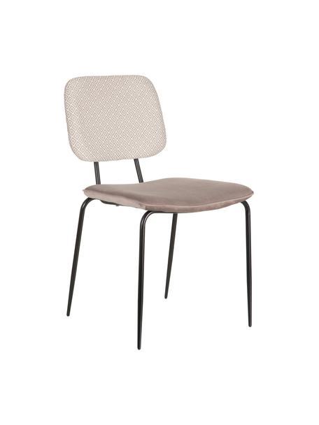 Krzesło tapicerowane Alba, Tapicerka: poliester, Stelaż: metal lakierowany, Beżowy, S 55 x G 46 cm