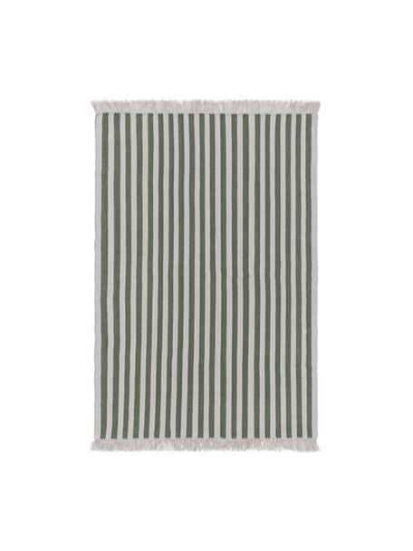 Dywan z wełny Gitta, 90% wełna, 10% bawełna Włókna dywanów wełnianych mogą nieznacznie rozluźniać się w pierwszych tygodniach użytkowania, co ustępuje po pewnym czasie, Zielony, jasny szary, S 120 x D 170 cm (Rozmiar S)