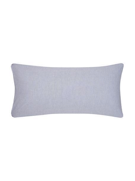 Funda de almohada de algodón Ellie, Blanco, azul oscuro, An 45 x L 85 cm
