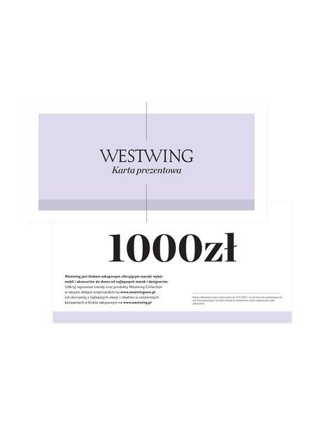 Karta prezentowa, Karta prezentowa z cienkiego papieru, w grubej kopercie, Biały, 1000