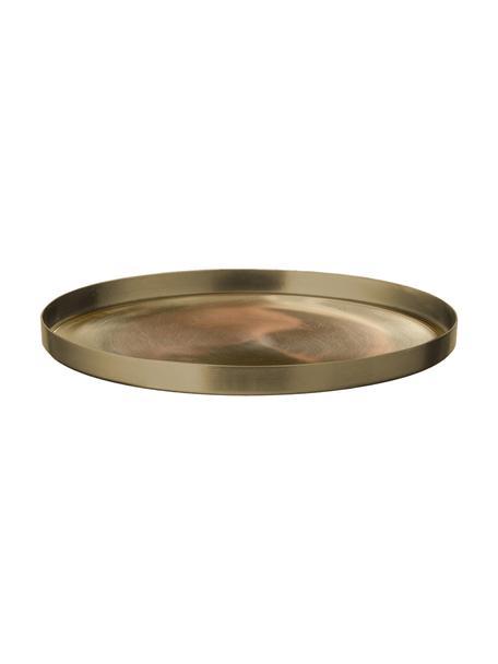 Kerzenteller Udine, Stahl, vermessingt, Messing, Ø 15 x H 1 cm
