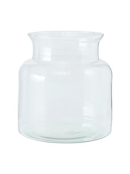 Ręcznie wykonany wazon ze szkła z recyklingu Eco, Szkło recyklingowe, Transparentny, Ø 18 x W 20 cm