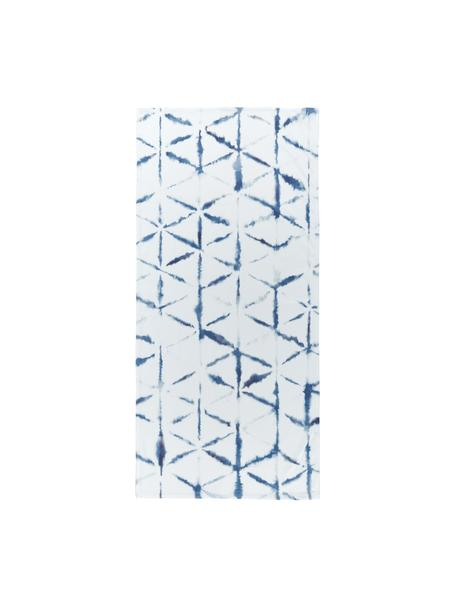 Lekki ręcznik plażowy Shibori, 55% poliester, 45% bawełna Bardzo niska gramatura, 340 g/m², Biały, niebieski, S 70 x D 150 cm