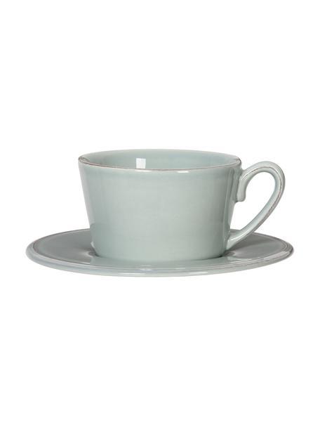 Tazza da tè con piattino Constance, Terracotta, Menta, Ø 19 x Alt. 8 cm
