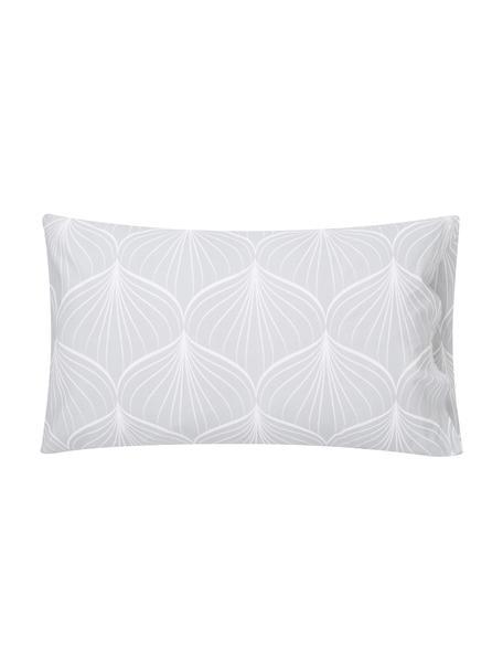 Fundas de almohada Claudio, 2uds., Algodón, Gris claro, blanco, An 50 x L 80 cm