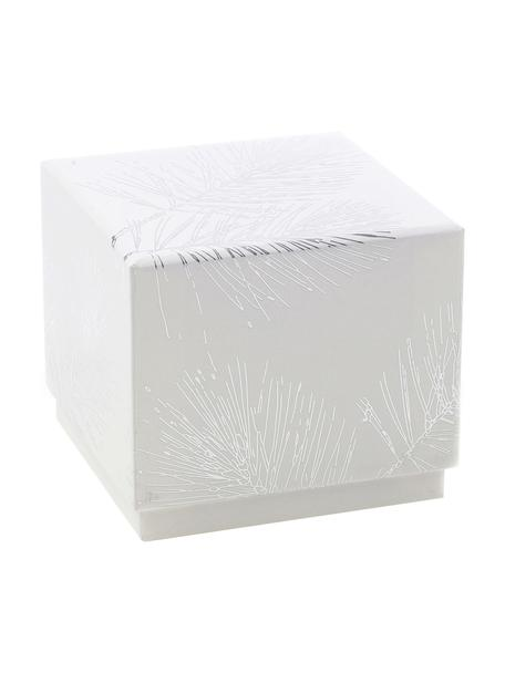 Caja para regalo Ferice, Papel de estraza, Blanco, plateado, An 10 x Al 9 cm