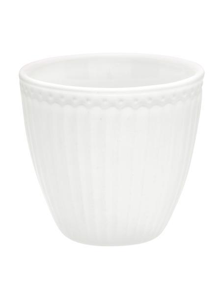 Tazza senza manico fatta a mano Alice 2 pz, Gres, Bianco, Ø 10 x Alt. 9 cm