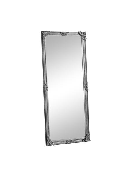 Rechthoekige leunende spiegel Fiennes, Lijst: gelakt hout, Zilverkleurig, 70 x 160 cm