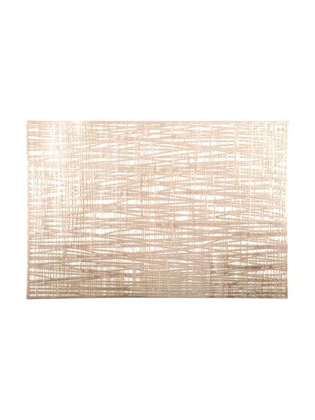 Schimmernde Tischsets Mazle in Gold, 2 Stück, Kunststoff, Goldfarben, 30 x 45 cm