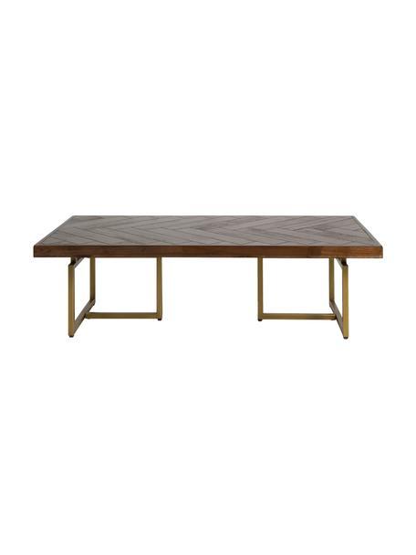 Mesa de centro Bruno, Tablero de fibras de densidad media (MDF) con laminado de madera de acacia, Marrón, An 120 x F 60 cm