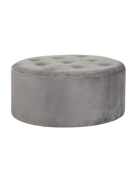 Puf de terciopelo Serek, con espacio de almacenamiento, Estructura: tablero de fibras de dens, Tapizado: 80%poliéster, 20%algodó, Gris, Ø 90 x Al 40 cm