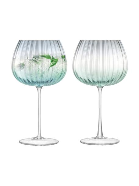 Set 2 calici in vetro Dusk, Vetro, Verde, grigio, Ø 10 x Alt. 20 cm