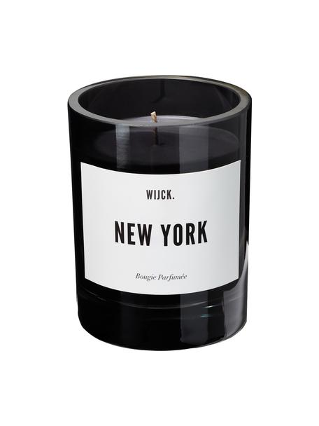Candela profumata New York (limone verde, rose e legno), Contenitore: vetro soffiato, Nero, Ø 8 x A 11 cm