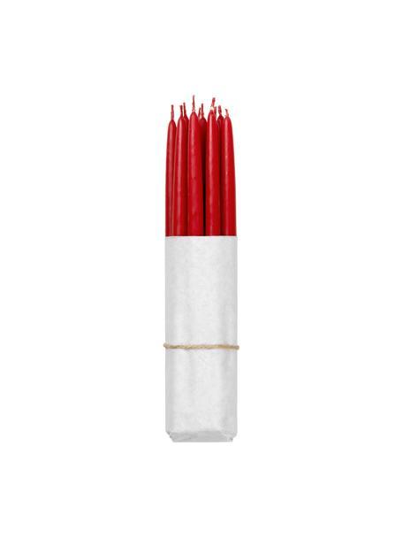 Stabkerzen Loka, 10 Stück, Wachs, Rot, Ø 1 x H 21 cm