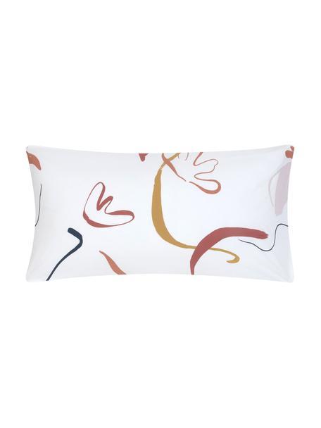 Baumwollperkal-Kissenbezüge Dazy, 2 Stück, Webart: Perkal Fadendichte 180 TC, Weiß, Mehrfarbig, 40 x 80 cm