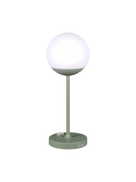 Mobile LED-Außentischlampe Mooon, Lampenschirm: Kunststoff, Grün, Ø 15 x H 41 cm