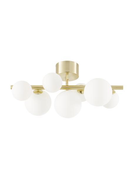 Lampa sufitowa Molekyl, Mosiężny, biały opalowy, S 58 x W 30 cm