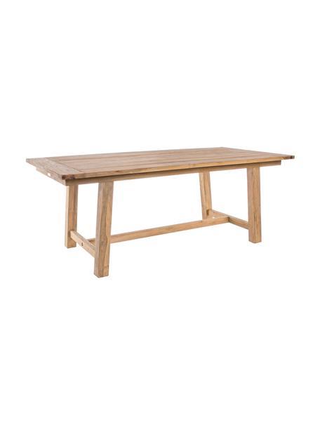 Stół ogrodowy z litego drewna tekowego Nairobi, Drewno tekowe, pochodzące z recyklingu, Rama: drewno tekowe Front: lustrzany, 200 x 100 cm