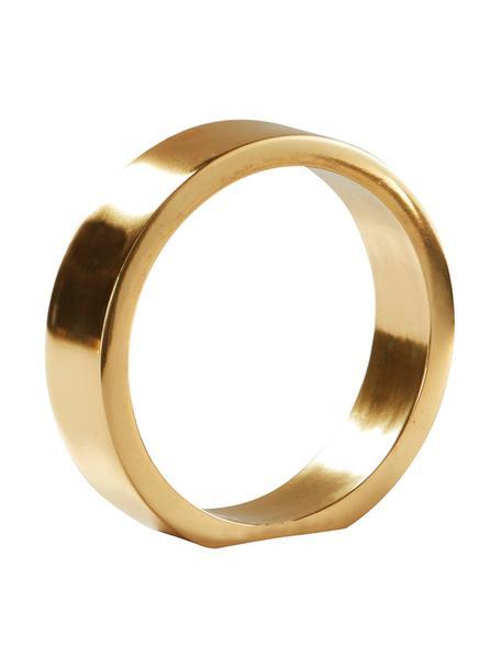 Oggetto decorativo The Ring, Metallo rivestito, Dorato, Ø 14 x Alt. 14 cm