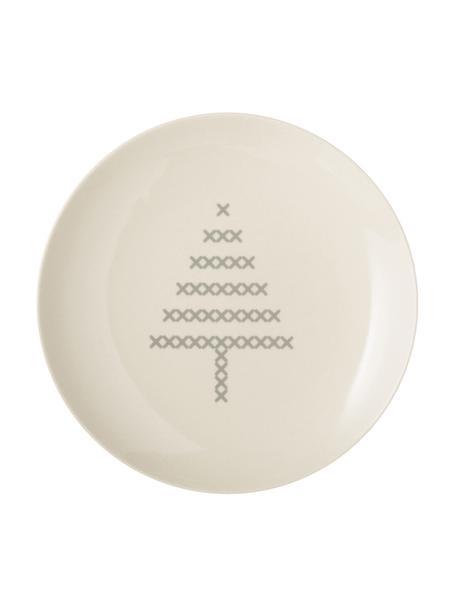 Piattino da dessert Cross, Ceramica, Bianco spezzato, grigio, Ø 16 cm