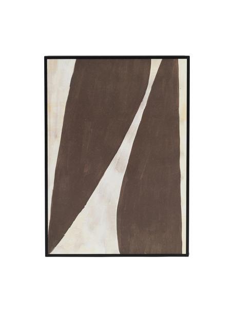 Stampa digitale incorniciata Rero, Immagine: carta riciclata, Cornice: pannello di fibra a media, Marrone, crema, Larg. 25 x Alt. 35 cm
