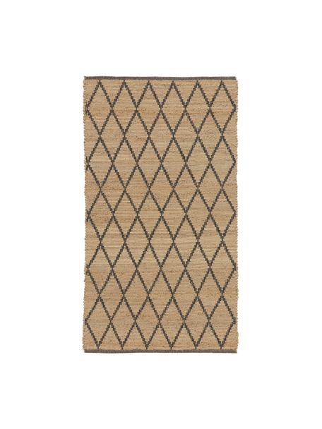 Handgefertigter Jute-Teppich Atta, 100% Jute, Beige, B 50 x L 80 cm (Größe XXS)