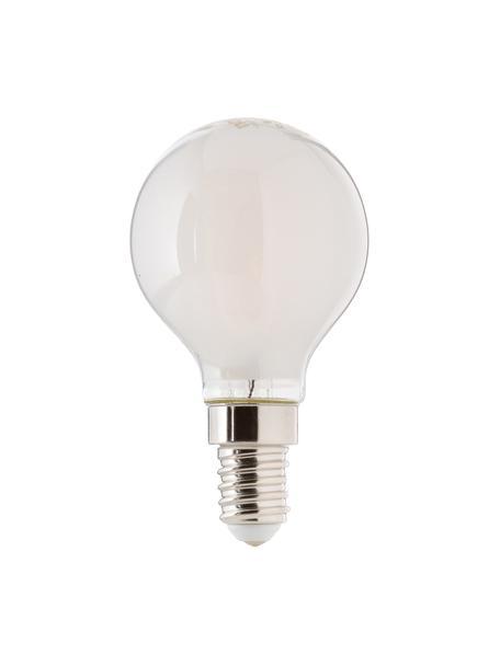 Lampadina a LED E14, 2.5W, bianco caldo, 1 pz, Paralume: materiale sintetico, Base lampadina: alluminio, Bianco, Ø 5 x Alt. 8 cm