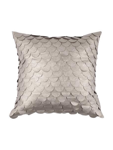 Schimmerndes Kissen Gatsby Chic, mit Inlett, Bezug: 50% Polyester, 50% Polyur, Champagnerfarben, 40 x 40 cm