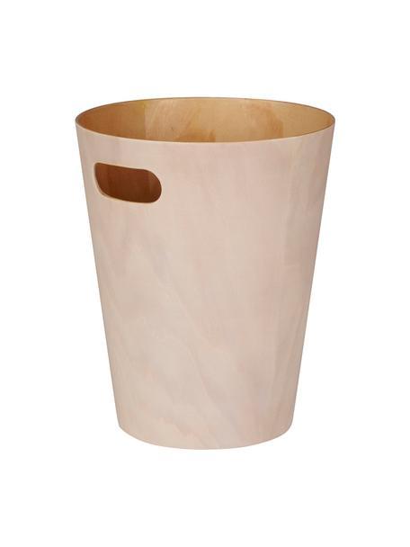 XS Papierkorb Woodrow Can, Holz, lackiert, Hellrosa, Ø 23 x H 28 cm