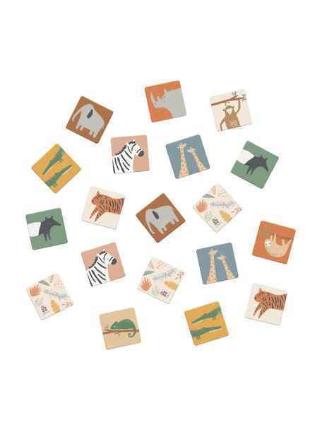 Memoryspel Wildlife, 30-delig, Massief karton, Multicolour, 6 x 6 cm
