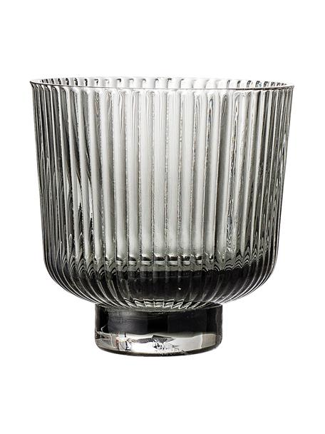 Teelichthalter Vaclav, 2 Stück, Glas, Grau, Ø 9 x H 9 cm