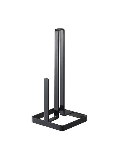 Portarrollos Tower, Acero recubierto, Negro, An 11 x Al 27 cm