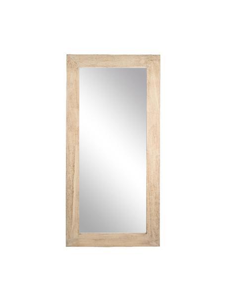 Espejo de pared Tiziano, Reverso: tablero de fibras de dens, Beige, An 82 x Al 172 cm