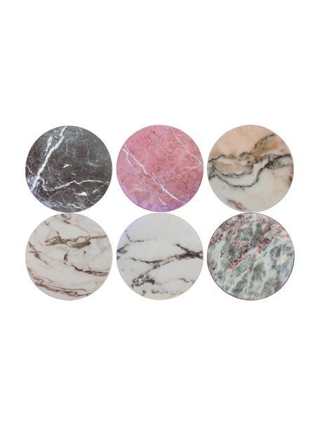 Posavasos de corcho Cork, 6uds., Corcho recubierto, Efecto mármol, Ø 10 cm