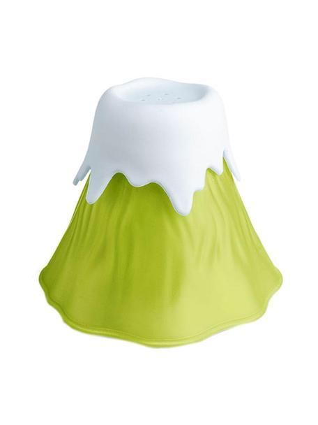 Limpiador de microondas Volcano, Plástico, polipropileno, Verde, blanco, Ø 14 x Al 13 cm