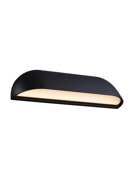 Zewnętrzny kinkiet LED Front, Czarny Dyfuzor: biały, mleczny-transparentny, S 26 x W 7 cm