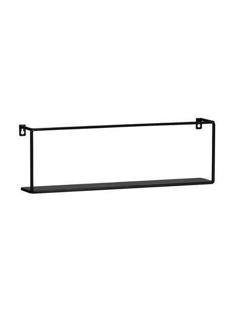 Metalen wandrek Meert in zwart, Gecoat metaal, Zwart, 50 x 16 cm