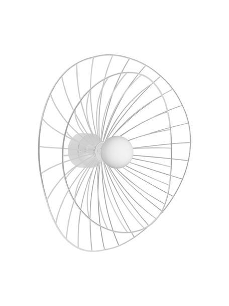 Aplique / Plafón Ray, con enchufe, Pantalla: metal, Fijación: metal, Cable: plástico, Blanco, Ø 60 x Al 20 cm