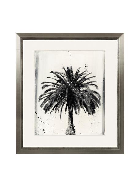Stampa digitale incorniciata LA Dream, Immagine: stampa digitale, Cornice: legno, Immagine: nero, bianco cornice: argento, Larg. 60 x Alt. 70 cm