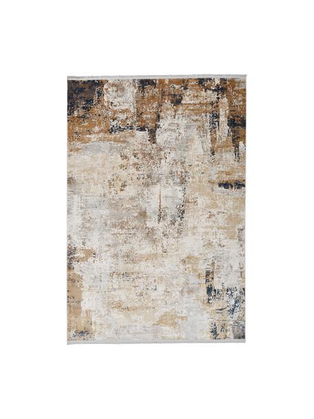 Tappeto con motivo astratto Verona, Retro: poliestere, Crema, beige, grigio, marrone, blu scuro, Larg. 200 x Lung. 290 cm (taglia L)