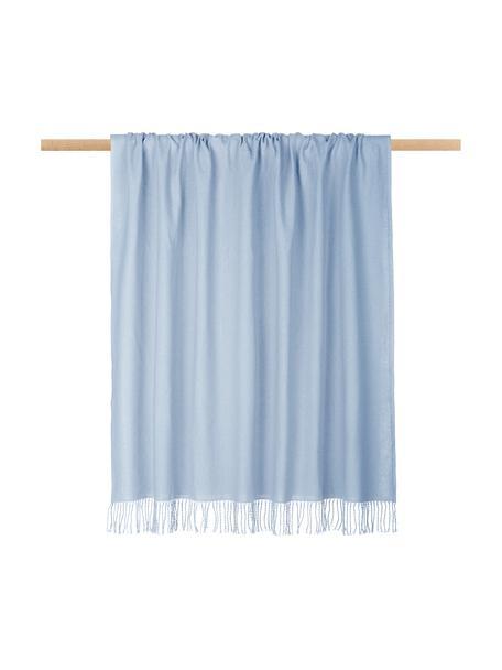 Manta Madison, 100%algodón, Azul claro, An 130 x L 170 cm