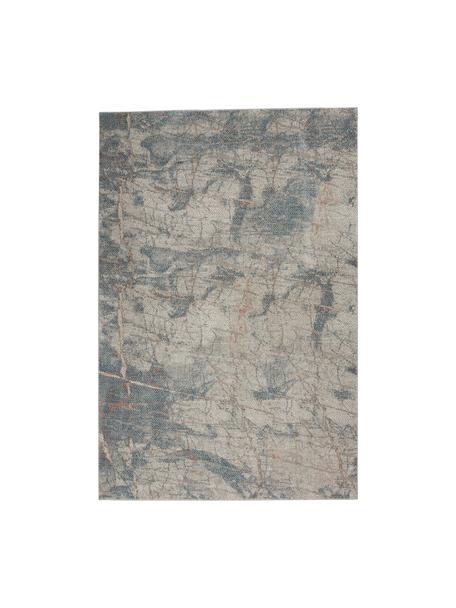 Gemusterter Teppich Rustic in Grau/Blau/Beige, Flor: 51% Polypropylen, 49% Pol, Grau, Blau, Beige, B 120 x L 180 cm (Größe S)