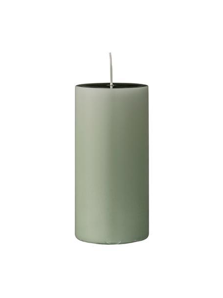 Stumpenkerzen Lulu, 2 Stück, Wachs, Hellgrün, Ø 7 x H 15 cm