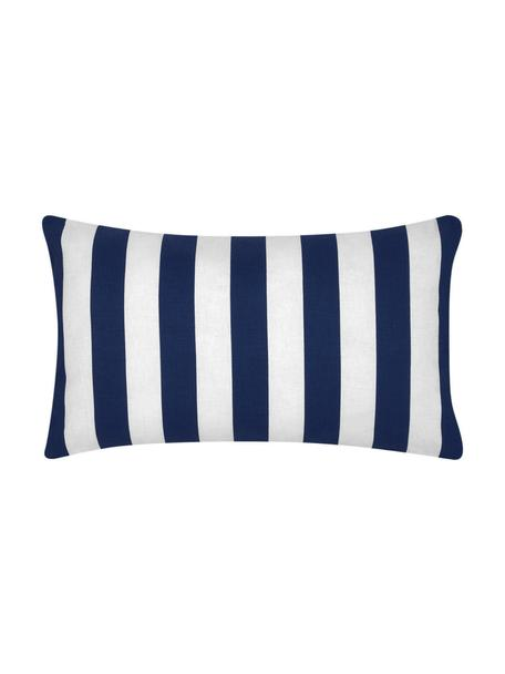 Federa arredo a righe blu scuro/bianco Timon, 100% cotone, Blu scuro, bianco, Larg. 30 x Lung. 50 cm