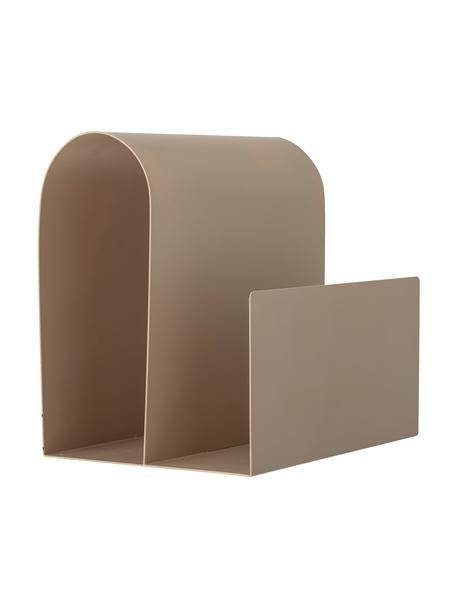 Zeitschriftenhalter Zeno, Metall, beschichtet, Braun, 31 x 29 cm