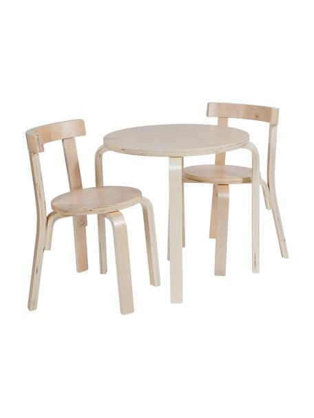 Set de mesa infantil Silvio, 3pzas., Beige, Set de diferentes tamaños