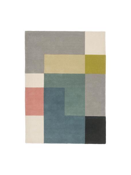 Tappeto di design in lana Tetris, Multicolore, Larg.170 x Lung. 240 cm  (taglia M)