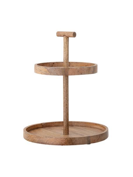 Fuente 2pisos de madera Mango, Marrón oscuro, Marrón oscuro, Ø 36 x Al 42 cm